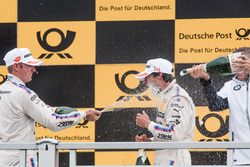 Podium: Maxime Martin, BMW Team RBM, BMW M4 DTM. Bruno Spengler, BMW Team RBM, BMW M4 DTM, Bart Mampaey, Team principal BMW Team RBM