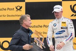 Podium: David Coulthard et Maxime Martin, BMW Team RBM, BMW M4 DTM