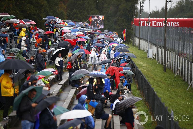 Suasana tribun penonton Monza