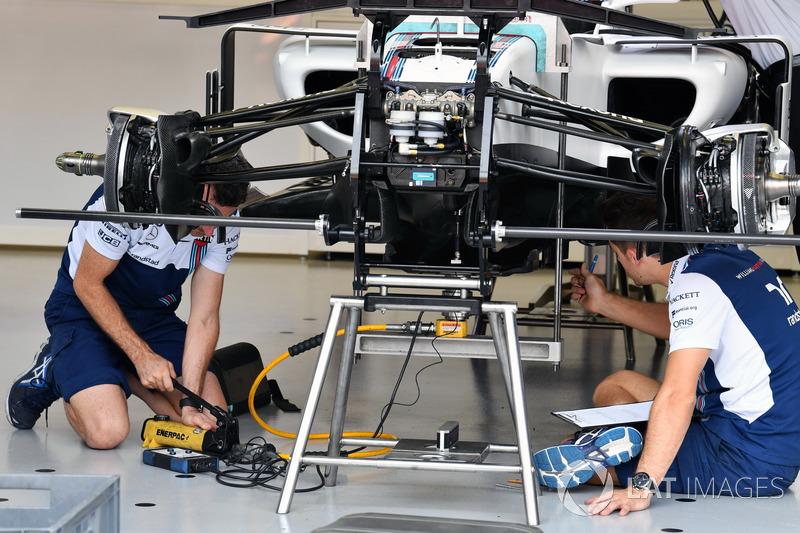 Suspension avant de la Williams FW40