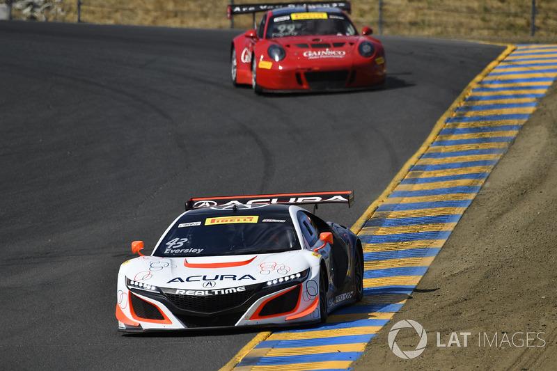 #43 RealTime Racing Acura NSX GT3: Ryan Eversley, #99 Gainsco/Bob Stallings Racing McLaren 650S GT3: