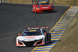 #43 RealTime Racing Acura NSX GT3: Ryan Eversley, #99 Gainsco/Bob Stallings Racing McLaren 650S GT3: