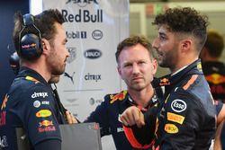 Christian Horner, teambaas Red Bull Racing en Daniel Ricciardo, Red Bull Racing