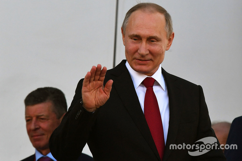 Vladimir Putin, President of Russia on the podium