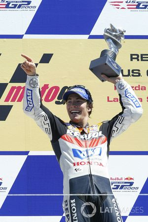 Nicky Hayden, Repsol Honda Team celebrate on the podium