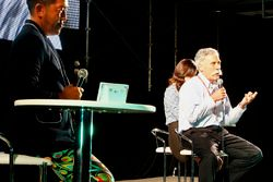 Chase Carey, Chairman, Formula One, on stage