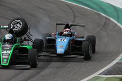 Ian Rodriguez Wright, DRZ Benelli, Gregoire Saucy, Jenzer Motorsport, incidente