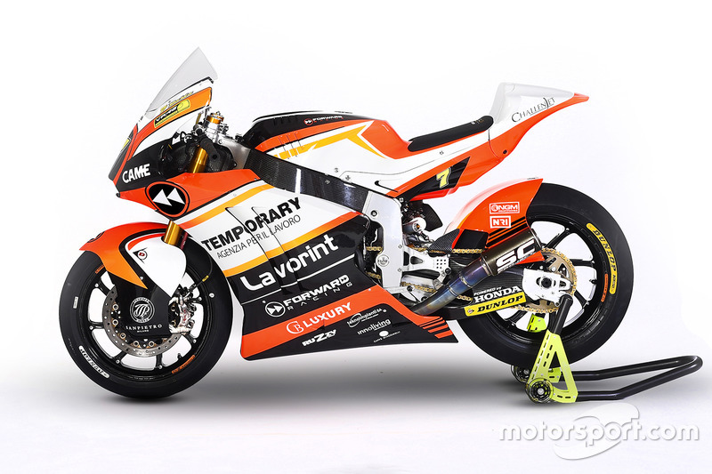 The bike of Lorenzo Baldassarri, Forward Racing