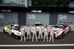 Group photoshoot: #23 Nissan Motorsport, Nissan GT-R Nismo GT3: Katsumasa Chiyo, Alex Buncombe, Mich