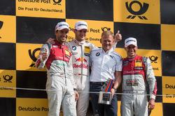 Podium: second place Mike Rockenfeller, Audi Sport Team Phoenix, Audi RS 5 DTM; Race winner Marco Wi