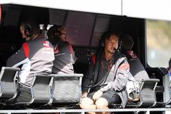Аяо Коматсу, Haas F1 Team, на командному містку
