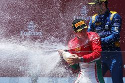 Podium: race winner Charles Leclerc, PREMA Powerteam, third place Nicholas Latifi, DAMS