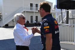 Bernie Ecclestone, Christian Horner, Red Bull Racing director del equipo