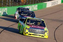 Matt Crafton, ThorSport Racing Toyota and Harrison Burton, Kyle Busch Motorsports Toyota