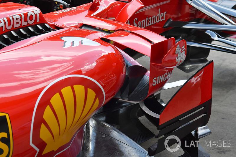 Le ponton de la Ferrari SF70H