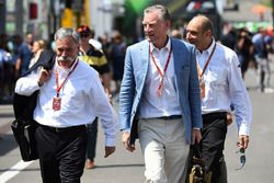 Chase Carey, Chief Executive Officer and Executive Chairman of the Formula One Group, Bruno Michel, and Sean Bratches, Formula One Managing Director, Commercial Operations