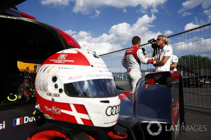 Шлем Тома Кристенсена на его Audi R18