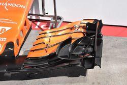 McLaren MCL32 detail van de voorvleugel