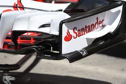 Ferrari SF70H, dettaglio dell'ala anteriore