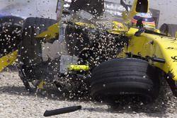 De crash van Takuma Sato, Jordan Honda