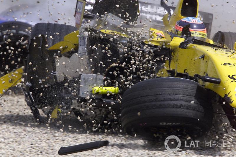Le crash de Takuma Sato, Jordan Honda