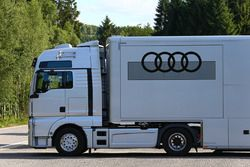 Audi Customer Racing transporter