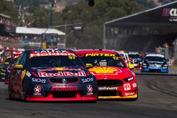 Shane van Gisbergen, Triple Eight Race Engineering Holden, Fabian Coulthard, Team Penske Ford at the
