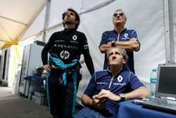 Jean Paul Driot, co-founder of team Renault E.DAMS, Alain Prost, Renault E.DAMS and Nicolas Prost, Renault e.Dams