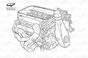 Чертеж двигателя Ferrari F2005