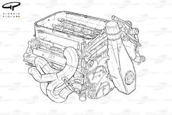 Ferrari F2005 engine, outline