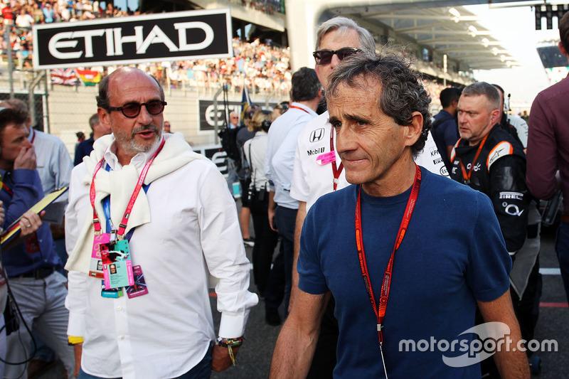 Alain Prost, en la parrilla