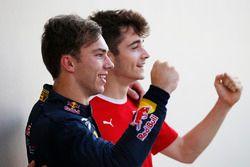 2016 GP2 Series champion Pierre Gasly, PREMA Racing and 2016 GP3 Series champion Charles Leclerc, AR
