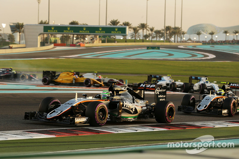 Nico Hulkenberg, Sahara Force India F1 VJM09 at the start of the race