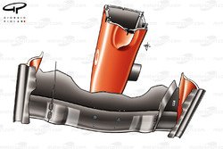 Ferrari F2004 (655) 2004 front wing and nose bottom view
