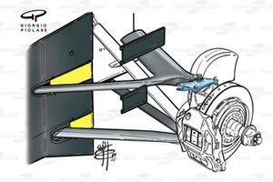 Передние тормоза и подвеска McLaren MP4-14 1999 года