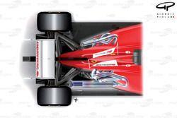 Ferrari F2012 top view exhausts comparison