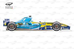 Renault R24 2004 Monaco winner side view