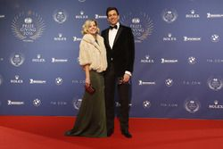 Toto Wolff, Mercedes AMG F1 Aandeelhouder en Executive Director met vrouw Susie Wolff