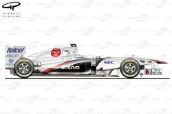 Sauber C30 side view, Italian GP