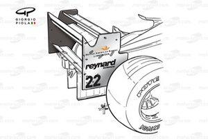 BAR 002 2000 rear wing
