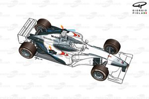 McLaren MP4-15 2000 exploded overview