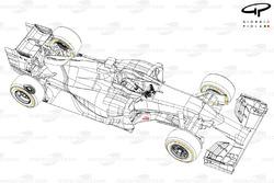 Vue des 4/5 de la Ferrari F14 T