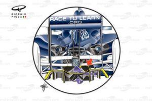 Detalle del doble difusor del Williams FW31 2009
