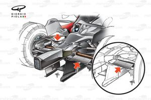 McLaren MP4-22 2007 rear suspension