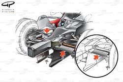 Suspension arrière de la McLaren MP4-22