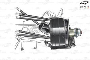 Frein avant de la McLaren MP4-22