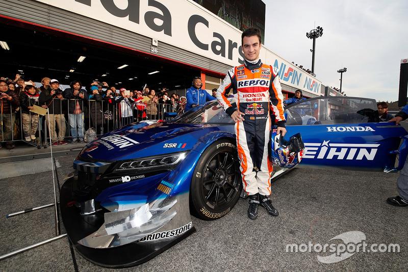 Dani Pedrosa dan Honda NSX Concept-GT car