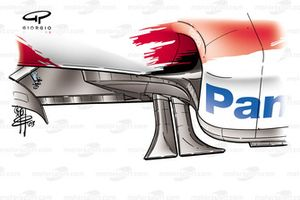 Toyota TF103 2003 chassis side fins
