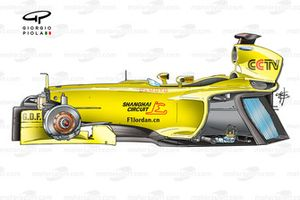 Jordan EJ13 2003 detailed chassis overview