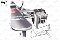 Sauber C31 front brake duct